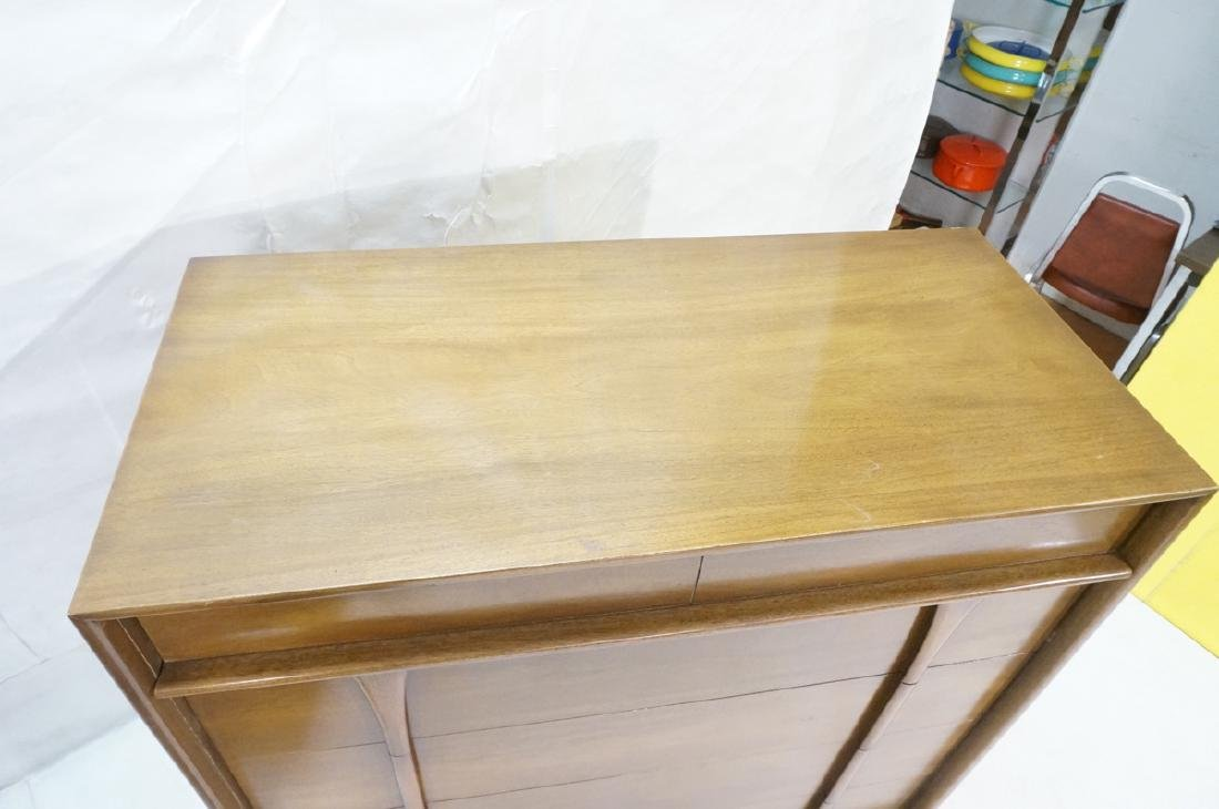 2pc American Modern Walnut bedroom set. Long cred - 8