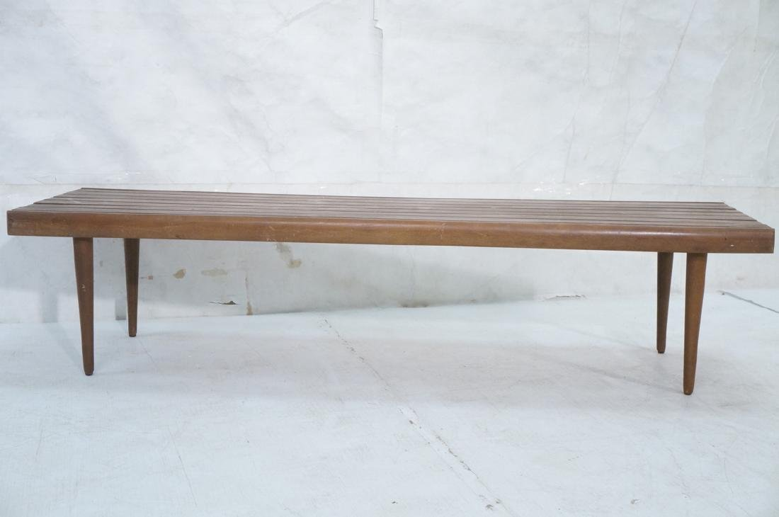 Modern Wood Slat Bench Coffee Table. Tapered peg - 2