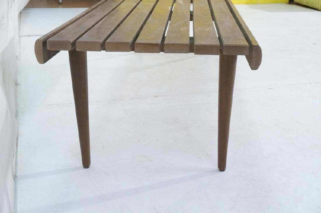 Modern Wood Slat Bench Coffee Table. Tapered peg - 3