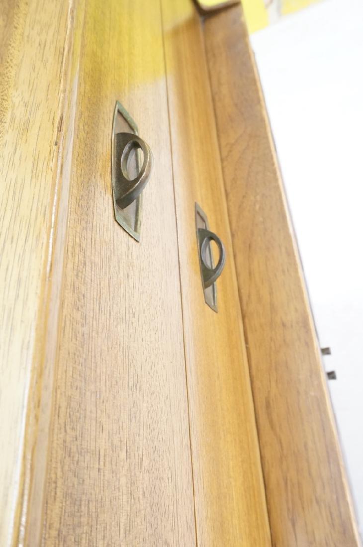 Modern DREXEL Burl Wood Cabinet Dresser. Metal pu - 10