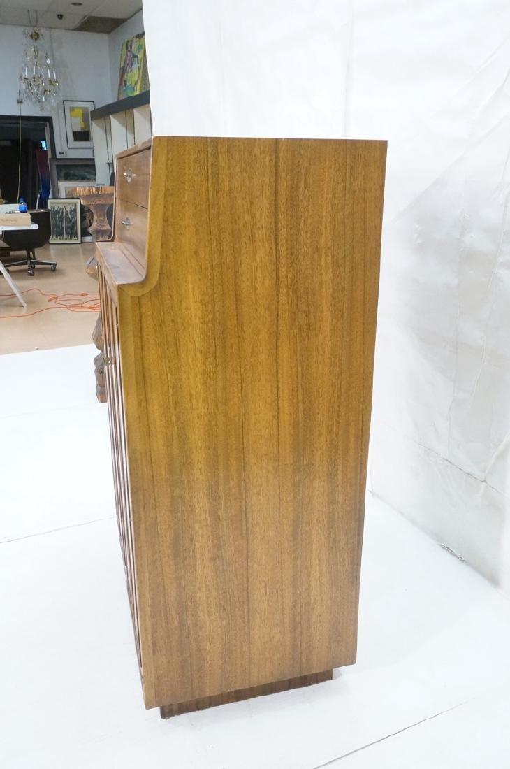 Modern DREXEL Burl Wood Cabinet Dresser. Metal pu - 3