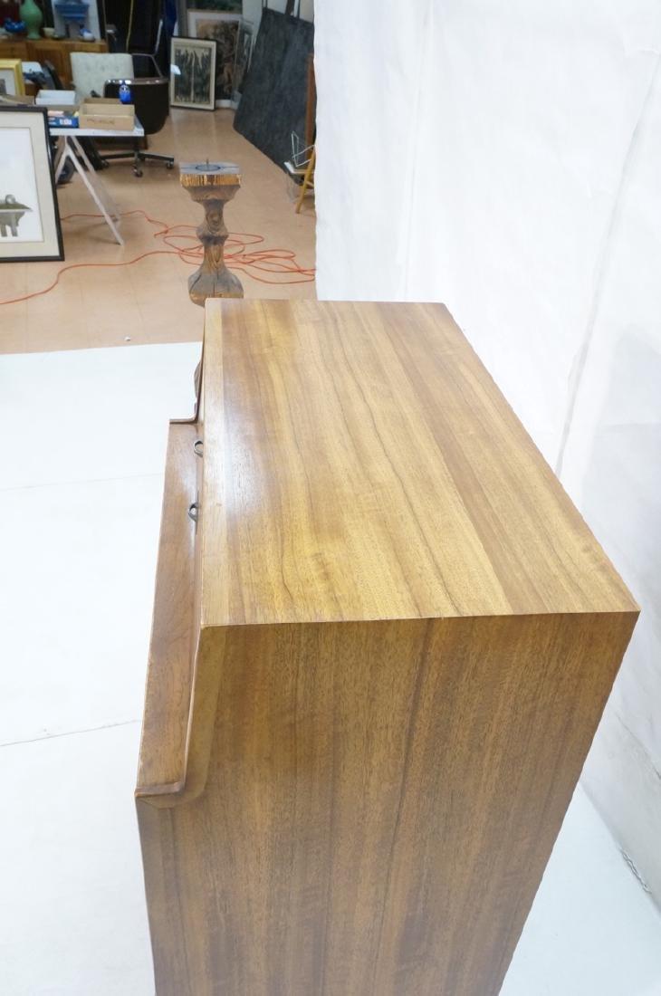 Modern DREXEL Burl Wood Cabinet Dresser. Metal pu - 4