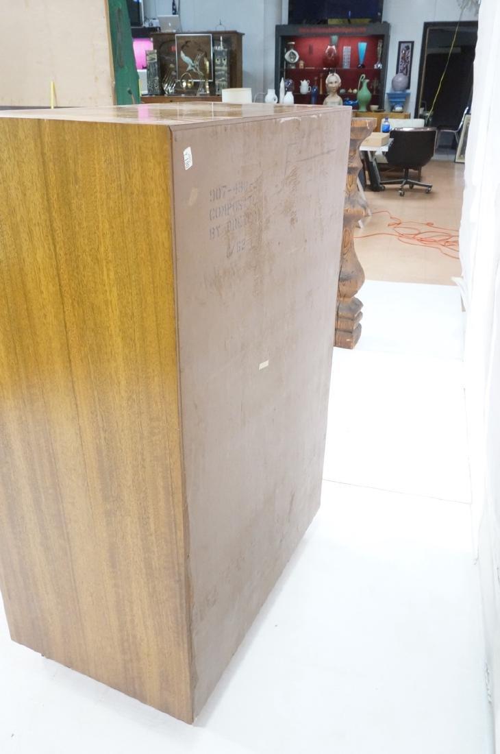 Modern DREXEL Burl Wood Cabinet Dresser. Metal pu - 5