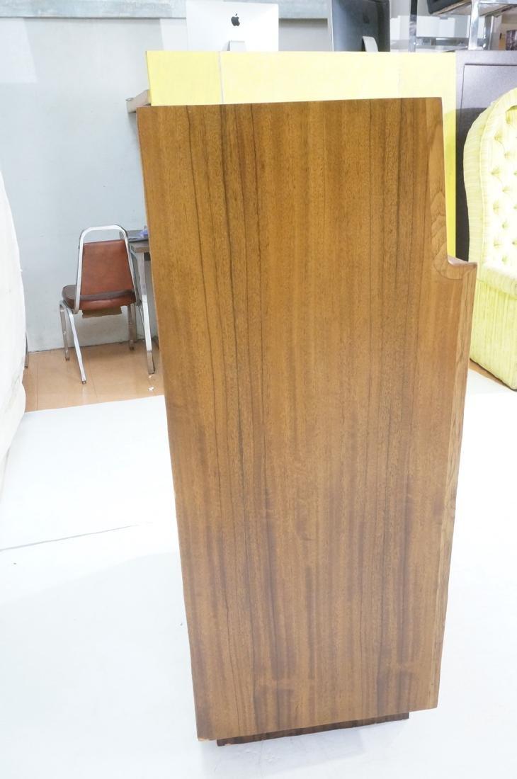 Modern DREXEL Burl Wood Cabinet Dresser. Metal pu - 6