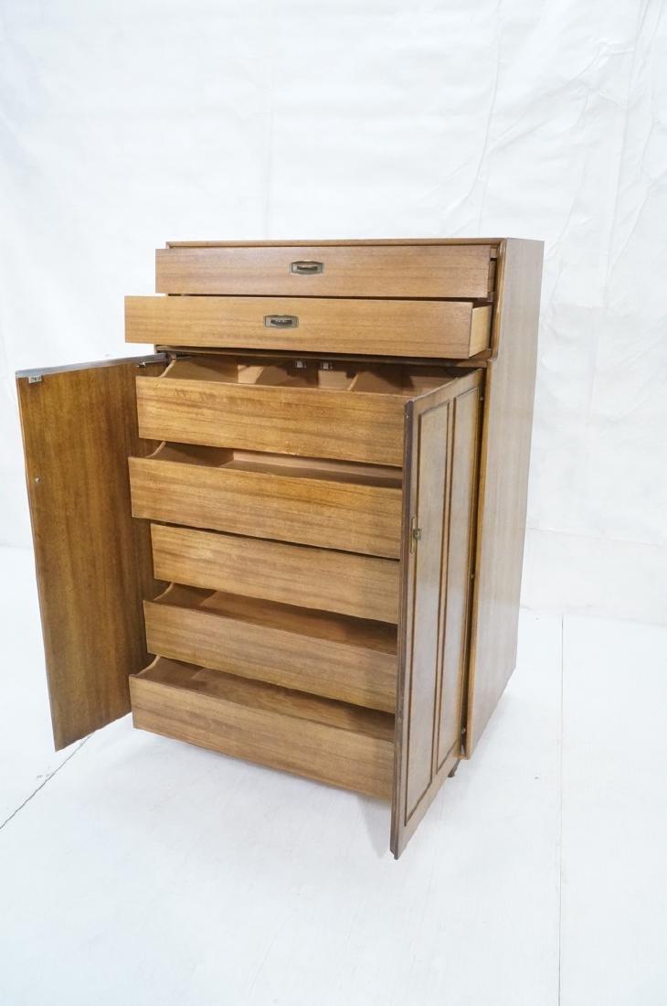Modern DREXEL Burl Wood Cabinet Dresser. Metal pu - 8