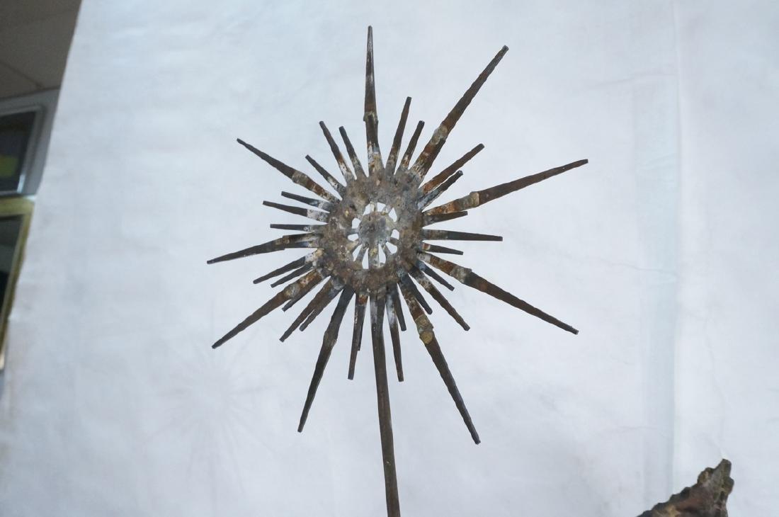 Brutalist Modern Tall Standing Welded Nail Sculpt - 8