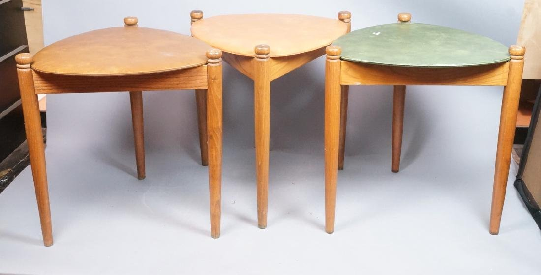 Set 3 Stacking Nesting Stools Tables. Modern tria - 2