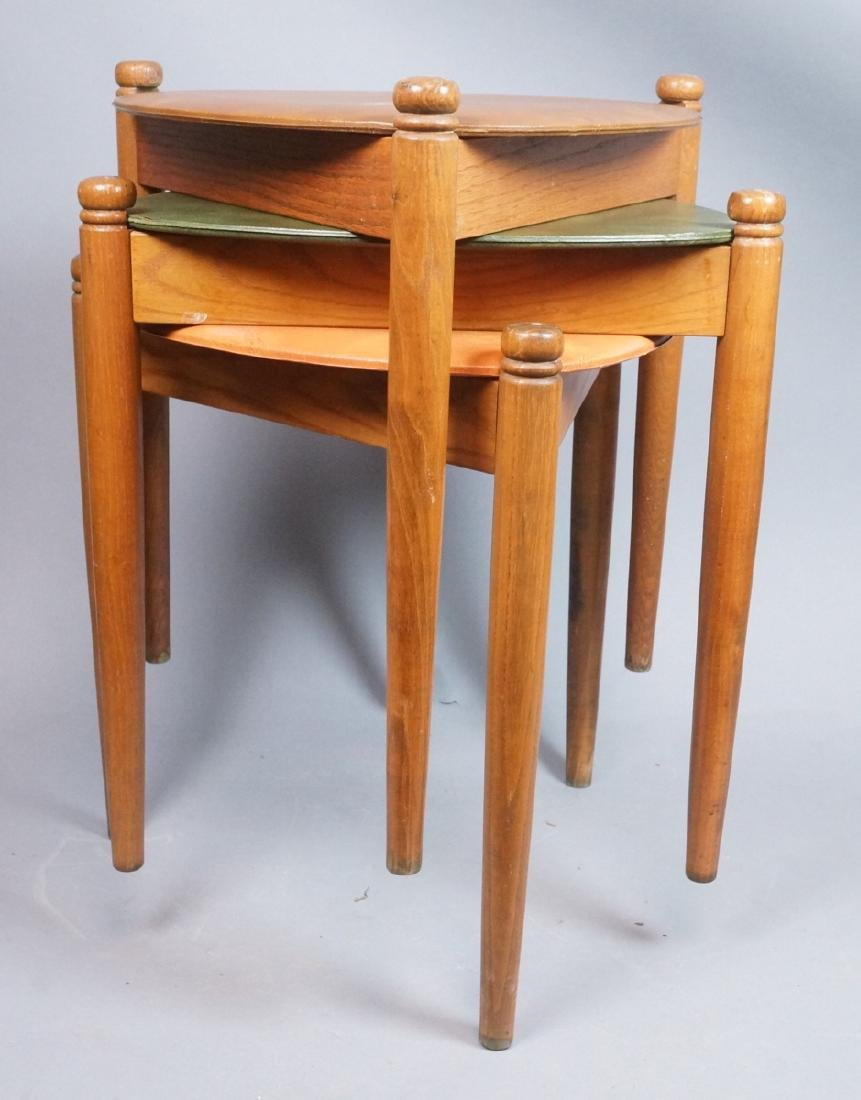 Set 3 Stacking Nesting Stools Tables. Modern tria - 3