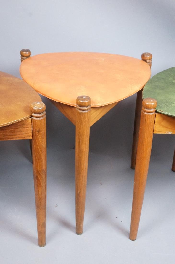 Set 3 Stacking Nesting Stools Tables. Modern tria - 5