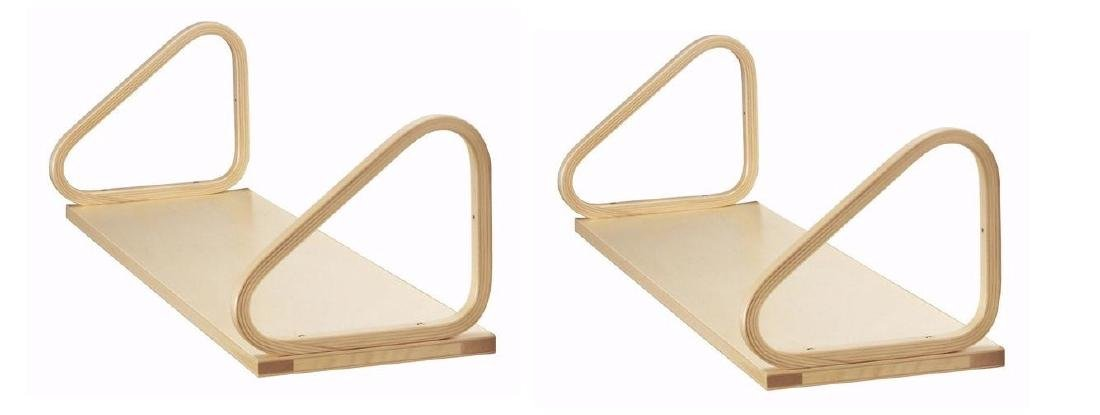 4 ALVAR AALTO for Artek Natural Wood Wall Shelves