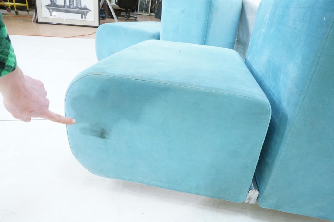 Pr KNOLL Light Blue Ultra Suede Modular Lounge Ch - 6