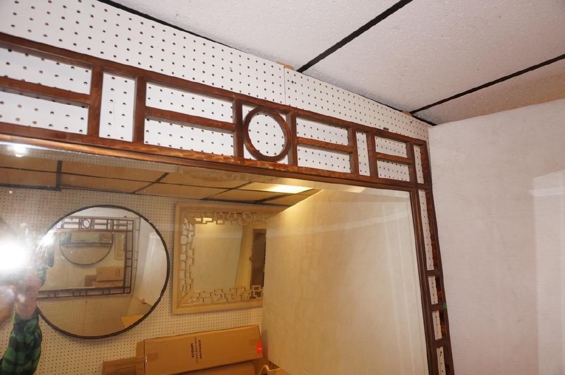 Contemporary Decorator Metal Wall Mirror. Lattice - 3