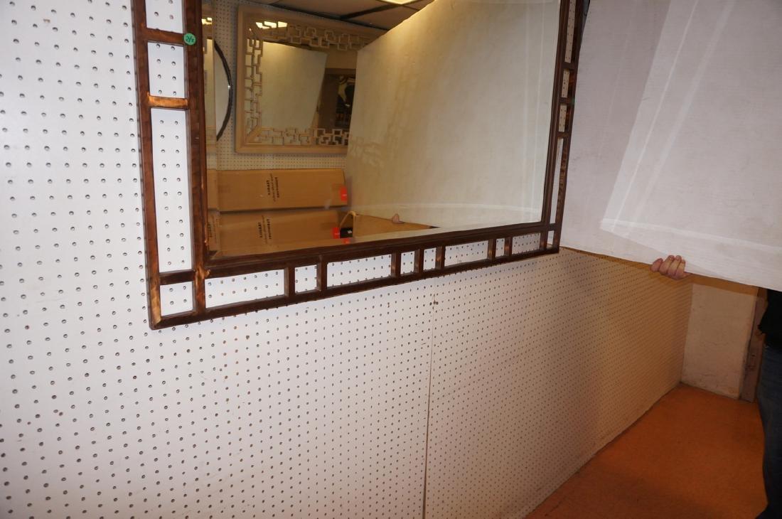 Contemporary Decorator Metal Wall Mirror. Lattice - 5