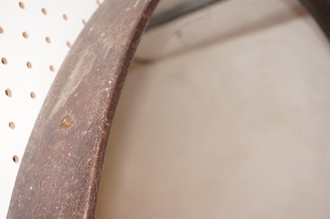 Large Steel Round Metal Industrial Wall Mirror. H - 3