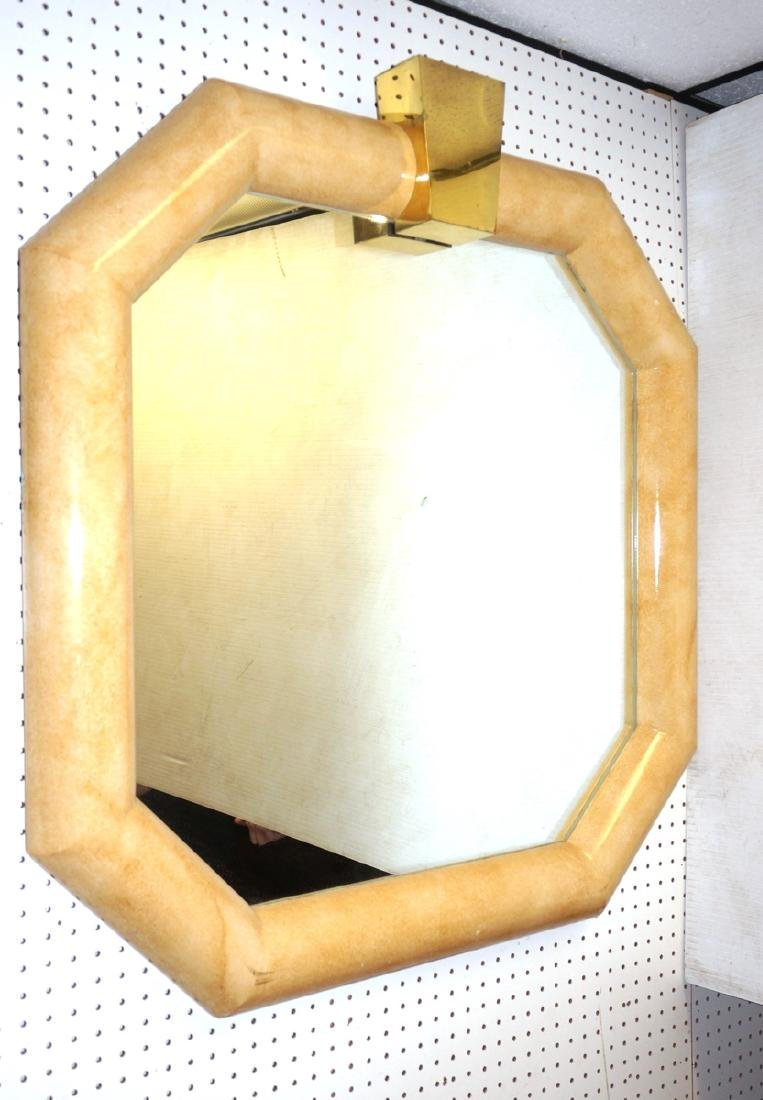 KARL SPRINGER Style Octagonal Wall Mirror. Lacque