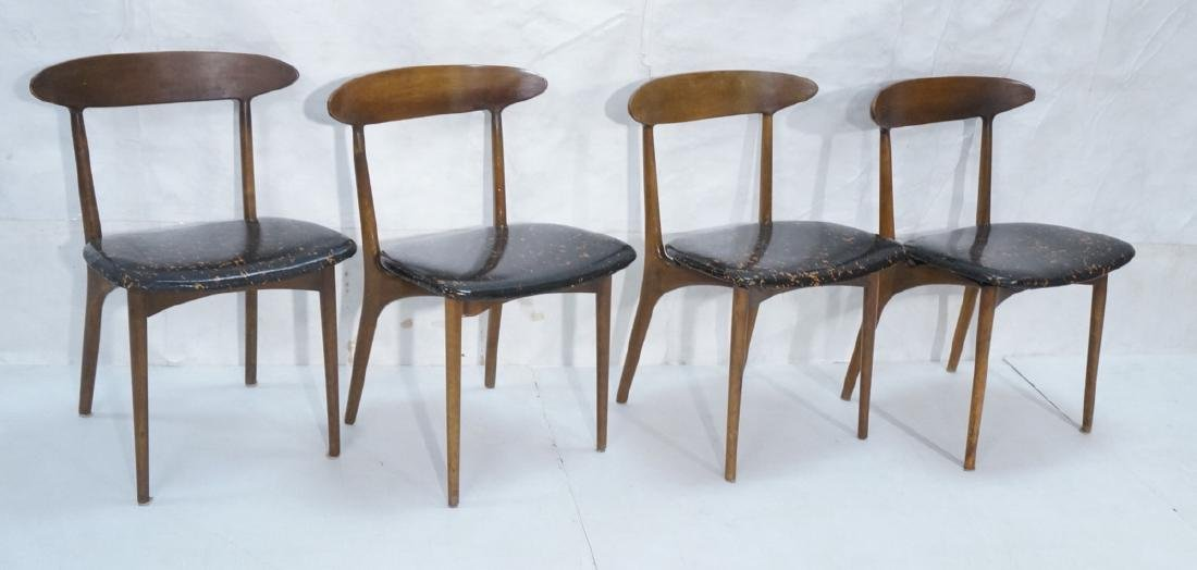 Set 4 American Modern Dining Chairs Bowed Back Re