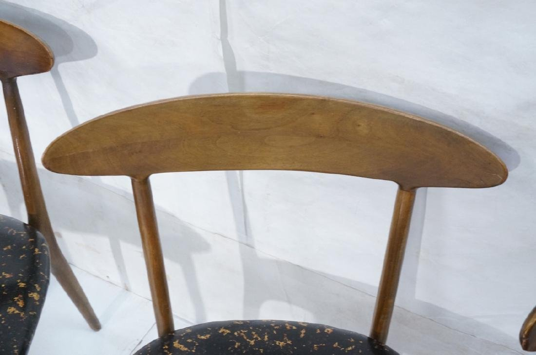 Set 4 American Modern Dining Chairs Bowed Back Re - 4