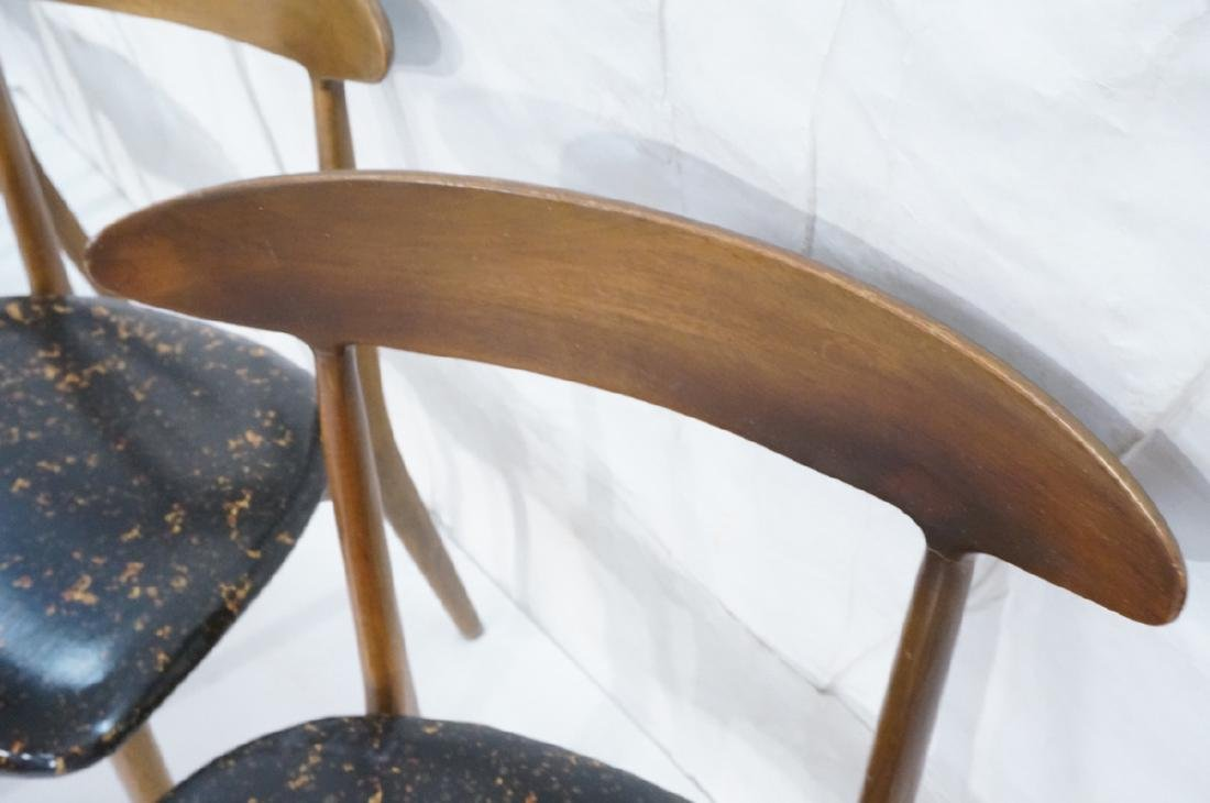 Set 4 American Modern Dining Chairs Bowed Back Re - 6