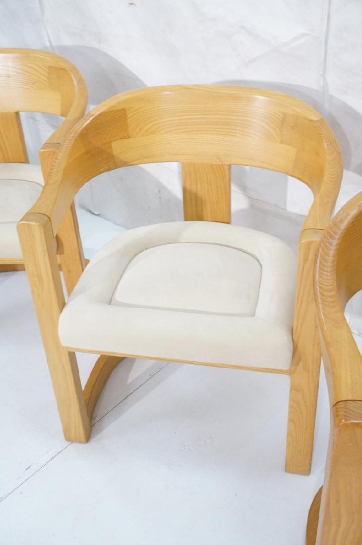 Set 4 Karl Springer Attributed Arm Chairs. Blond - 4