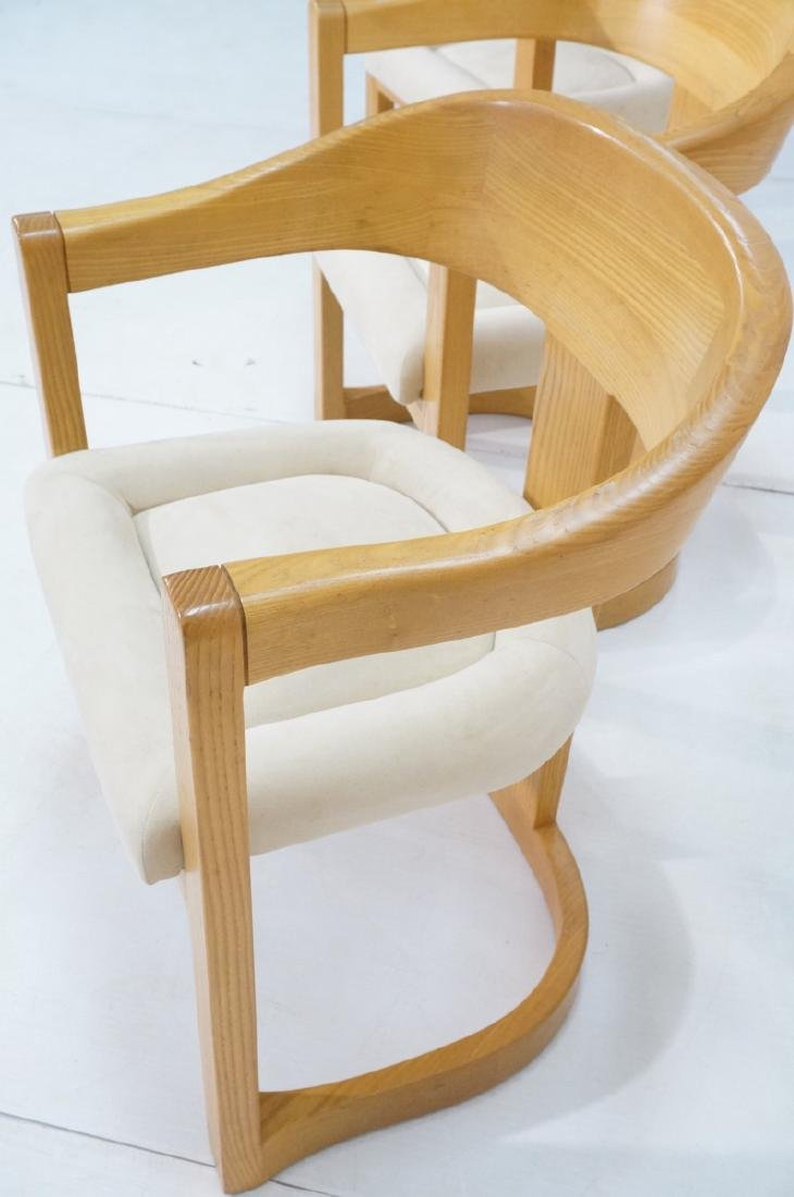 Set 4 Karl Springer Attributed Arm Chairs. Blond - 5