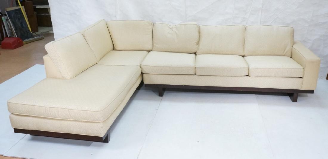 THAYER COGGIN 2pc Sectional Sofa. One arm sofa co
