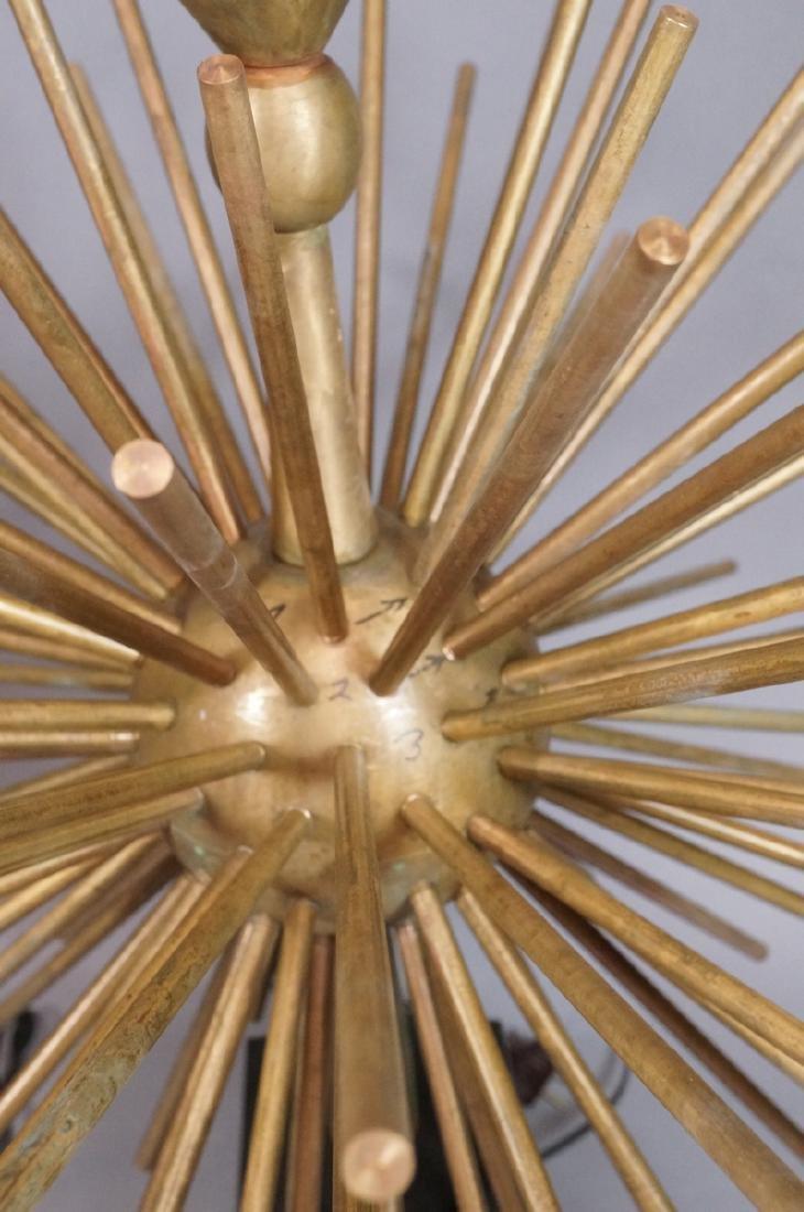 Pr ARTURO PANI Style Bronze Lamps.  Spiked Sphere - 3
