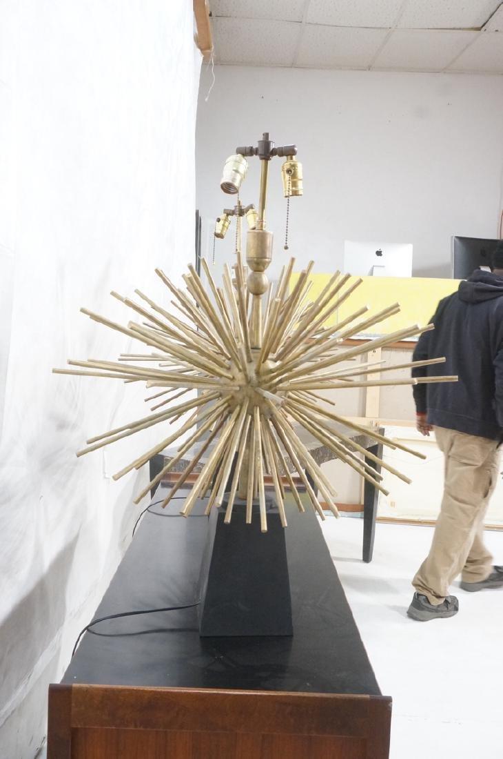 Pr ARTURO PANI Style Bronze Lamps.  Spiked Sphere - 8