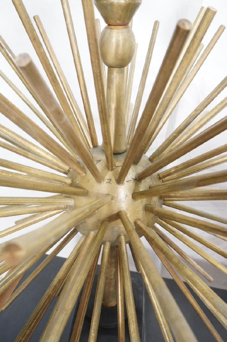 Pr ARTURO PANI Style Bronze Lamps.  Spiked Sphere - 9