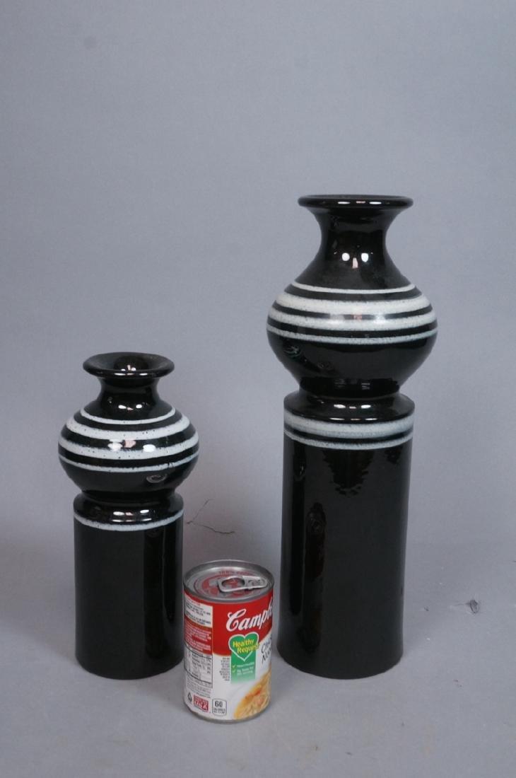 2pc ROSENTHAL NETTER Black Glazed Italian Pottery - 2
