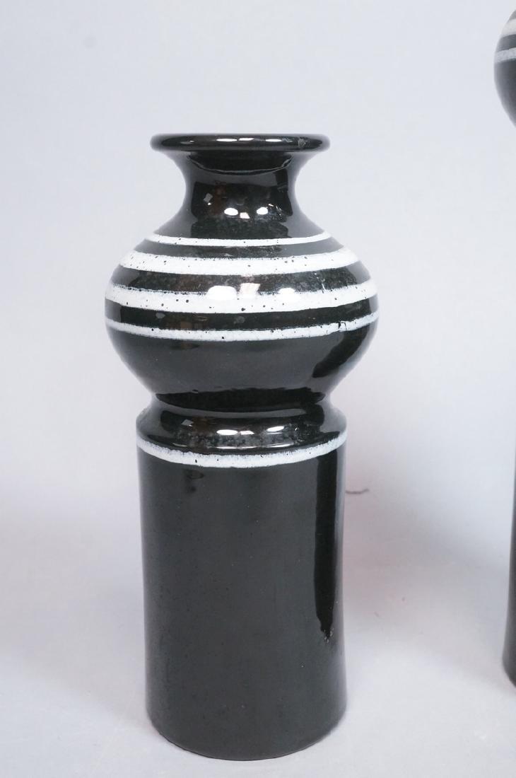 2pc ROSENTHAL NETTER Black Glazed Italian Pottery - 3