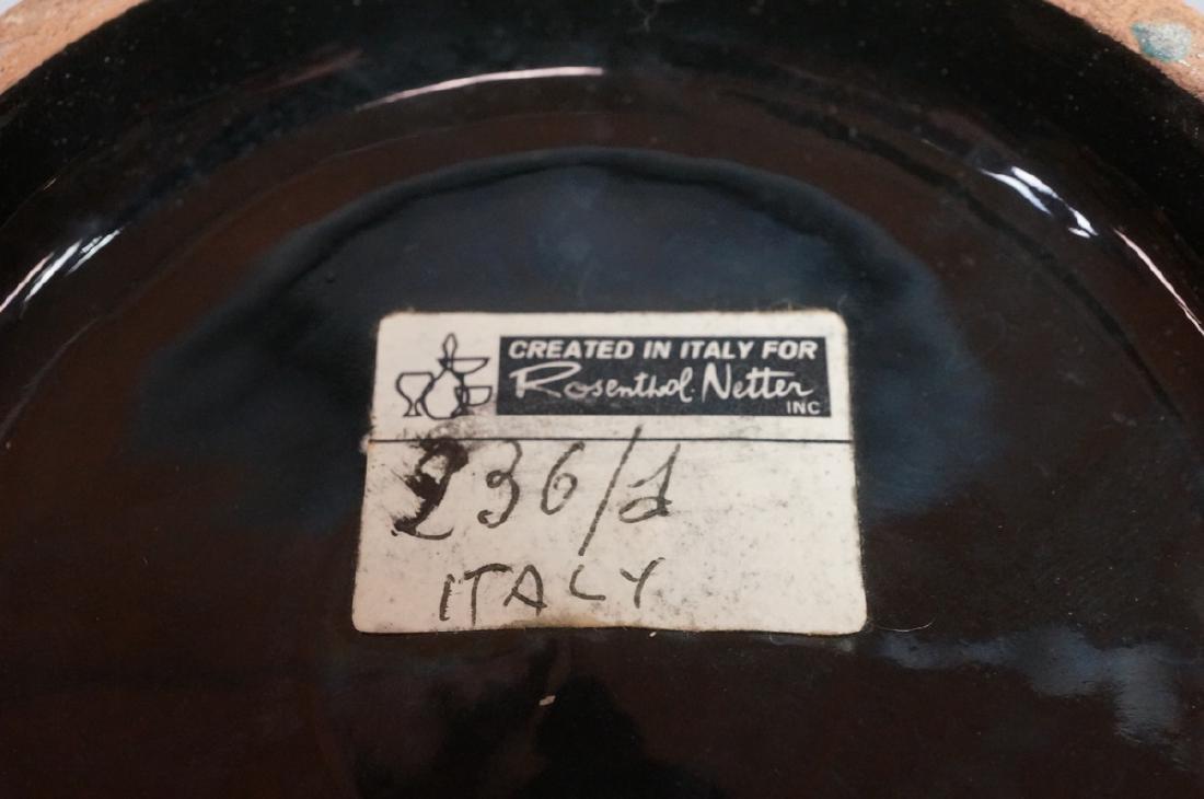 2pc ROSENTHAL NETTER Black Glazed Italian Pottery - 6