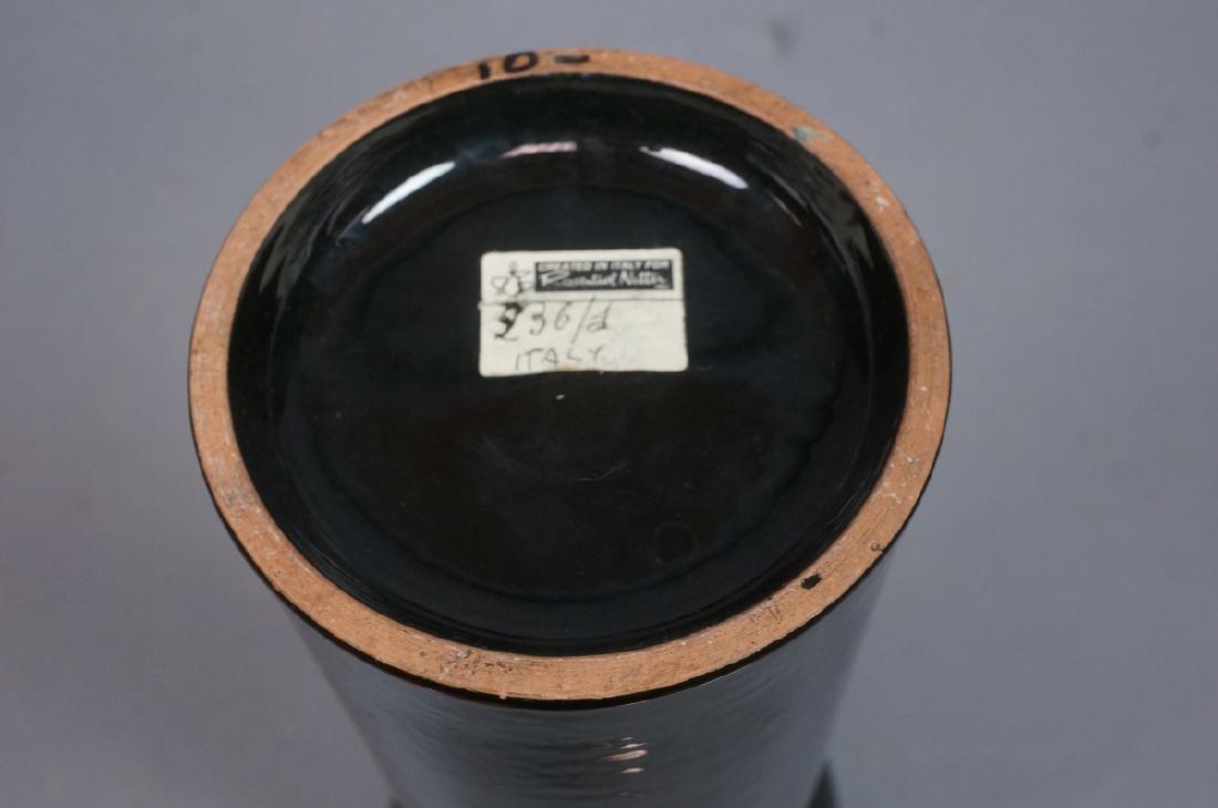 2pc ROSENTHAL NETTER Black Glazed Italian Pottery - 7