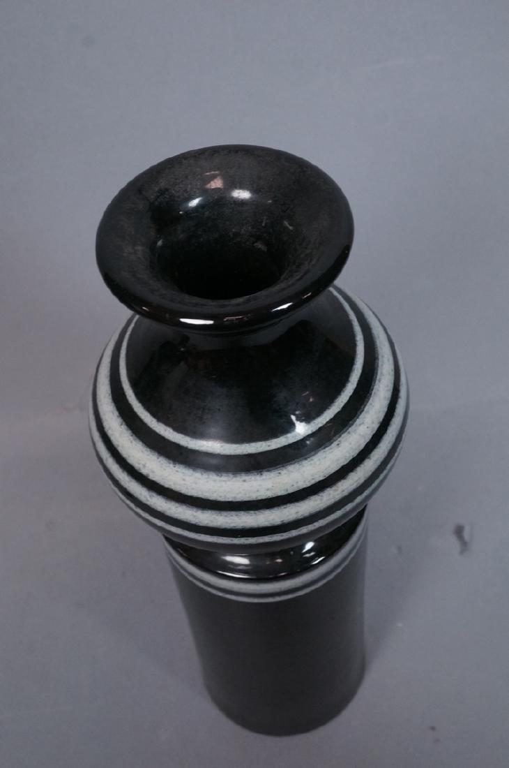 2pc ROSENTHAL NETTER Black Glazed Italian Pottery - 8