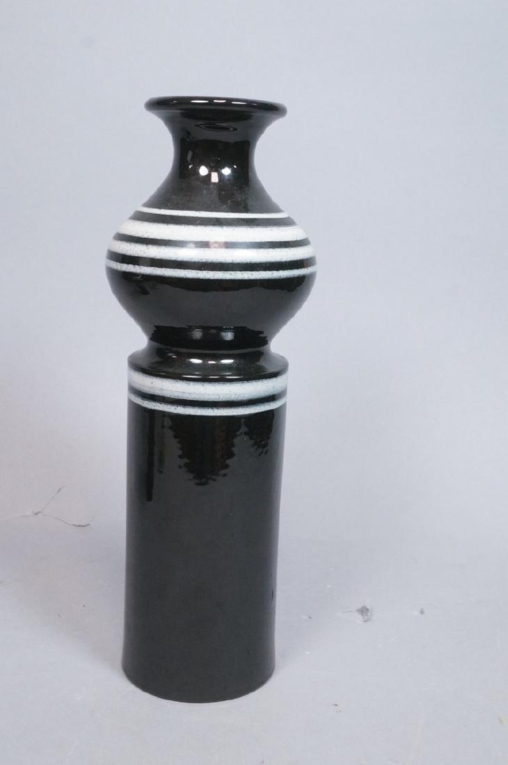 2pc ROSENTHAL NETTER Black Glazed Italian Pottery - 9