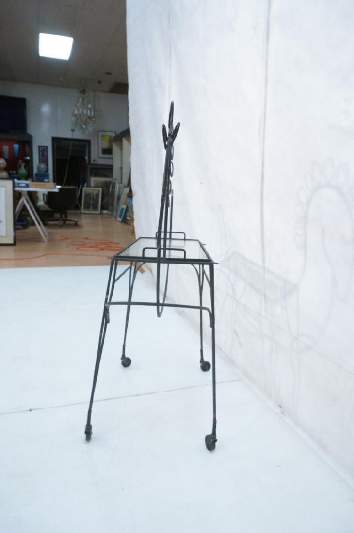 John Risley Black Rod Horse Table. Black iron fra - 4