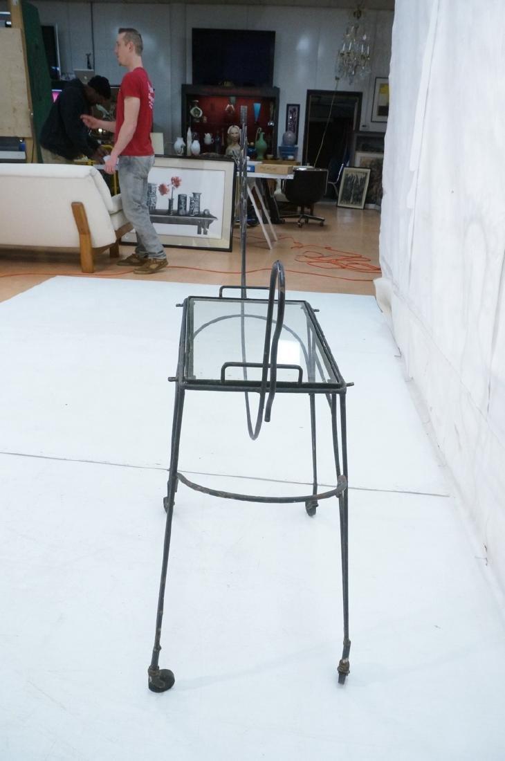 John Risley Black Rod Horse Table. Black iron fra - 5