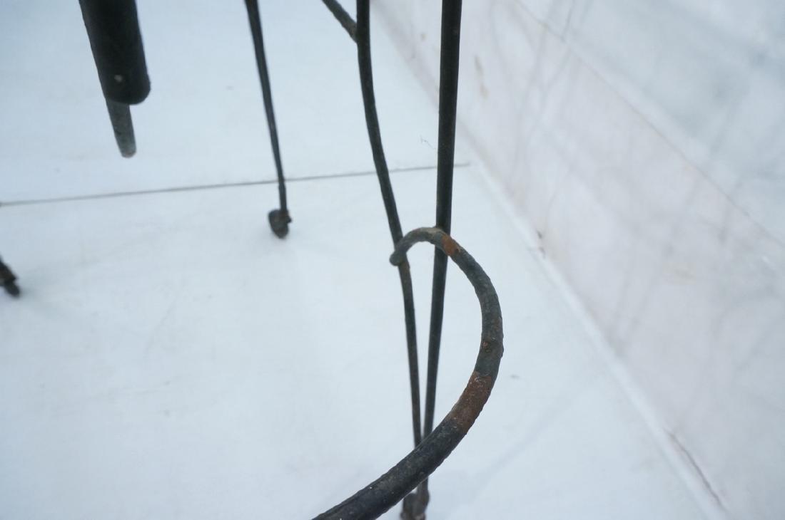 John Risley Black Rod Horse Table. Black iron fra - 6