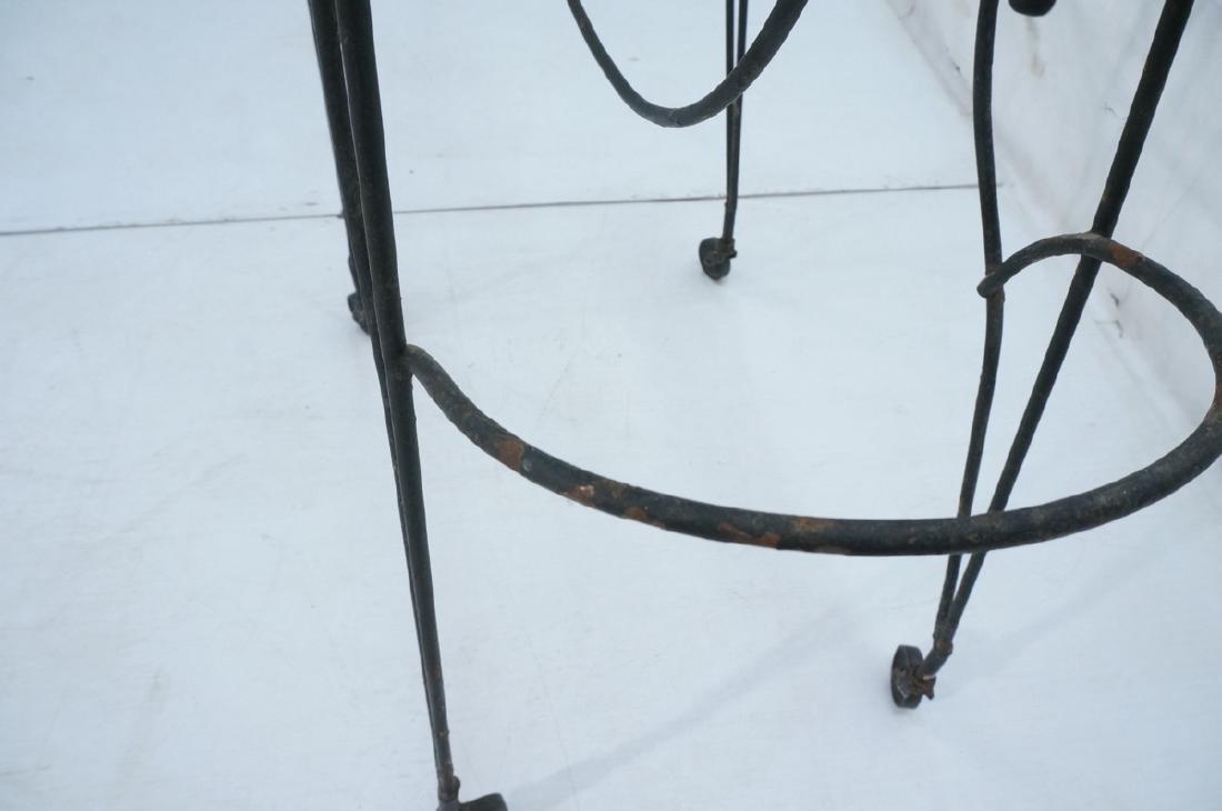 John Risley Black Rod Horse Table. Black iron fra - 7