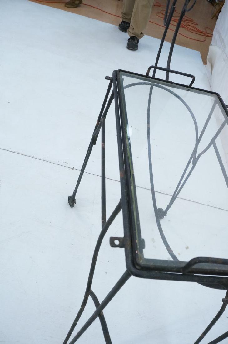 John Risley Black Rod Horse Table. Black iron fra - 9