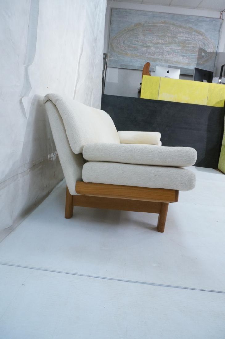 Danish Modern Teak Sofa Couch. Tall back cream up - 3