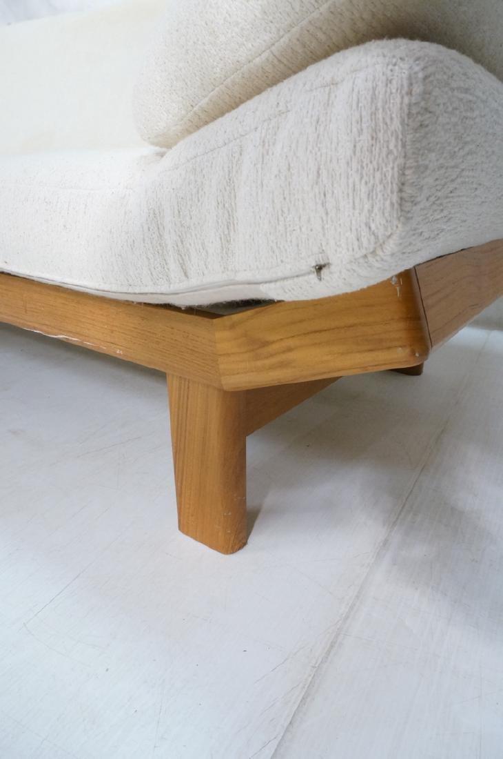 Danish Modern Teak Sofa Couch. Tall back cream up - 6