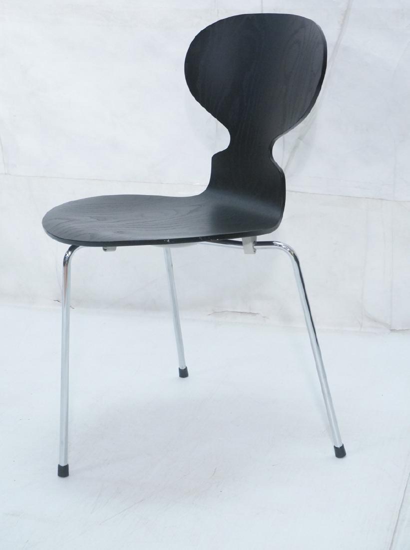 FRITZ HANSEN Black & Chrome Ant Chair ARNE JACOBS