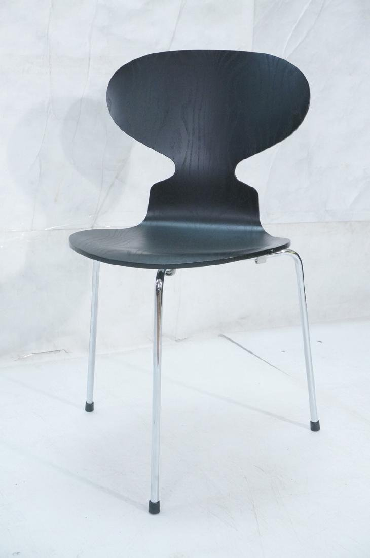 FRITZ HANSEN Black & Chrome Ant Chair ARNE JACOBS - 2