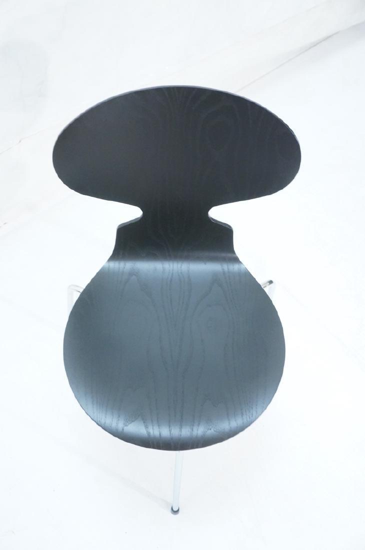 FRITZ HANSEN Black & Chrome Ant Chair ARNE JACOBS - 3