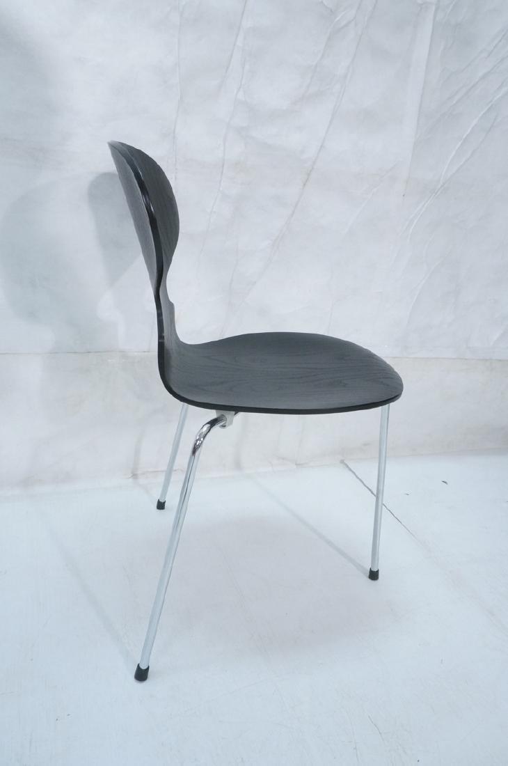 FRITZ HANSEN Black & Chrome Ant Chair ARNE JACOBS - 4