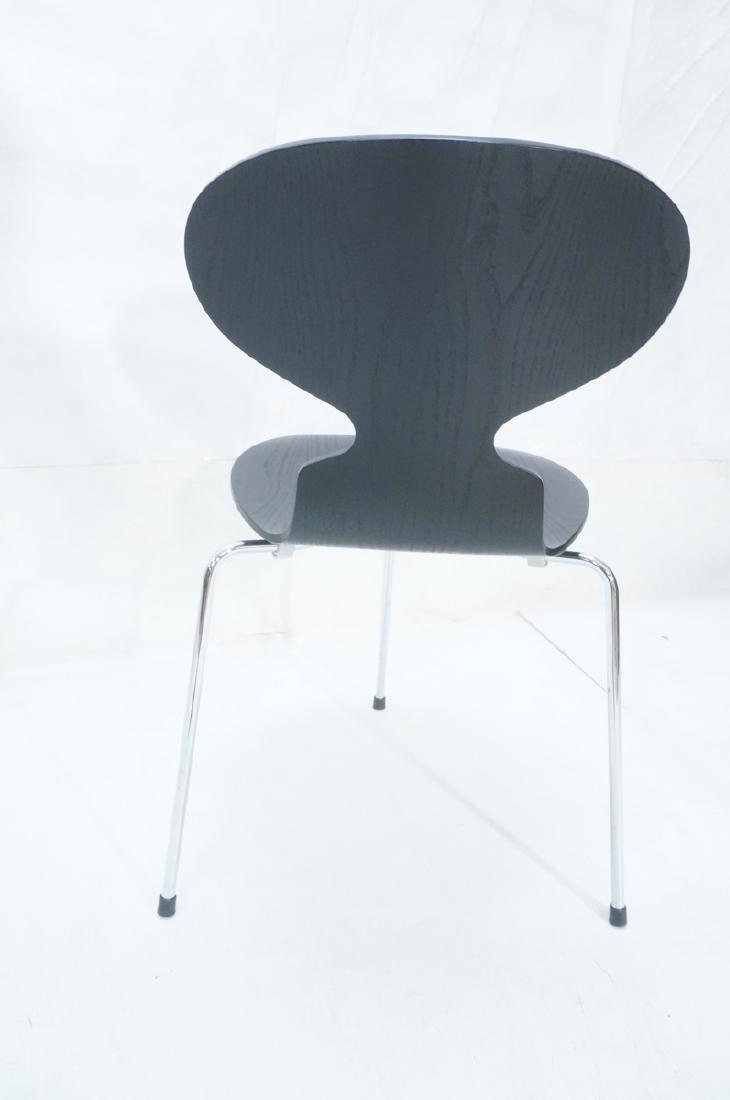 FRITZ HANSEN Black & Chrome Ant Chair ARNE JACOBS - 5