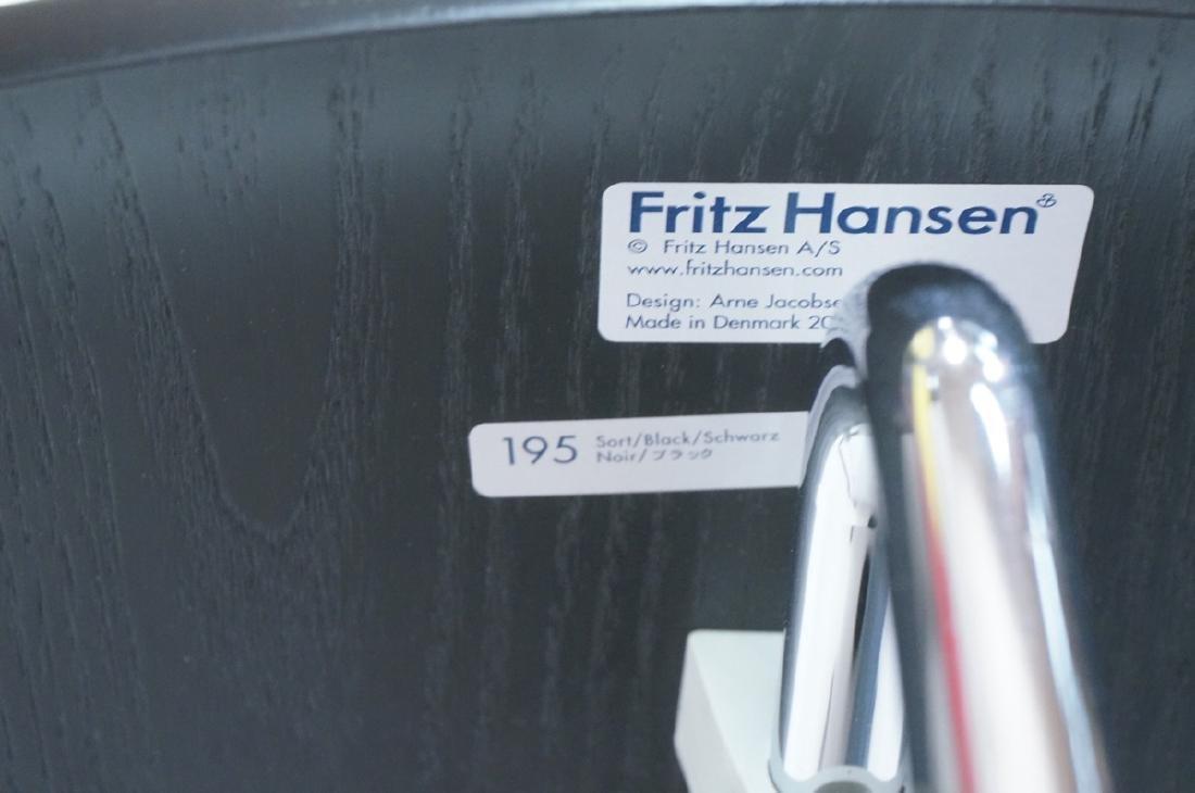 FRITZ HANSEN Black & Chrome Ant Chair ARNE JACOBS - 6