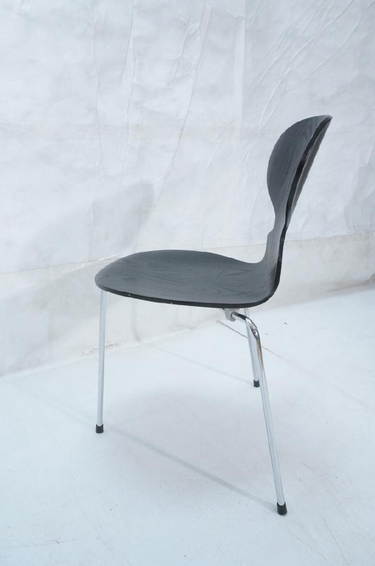 FRITZ HANSEN Black & Chrome Ant Chair ARNE JACOBS - 7