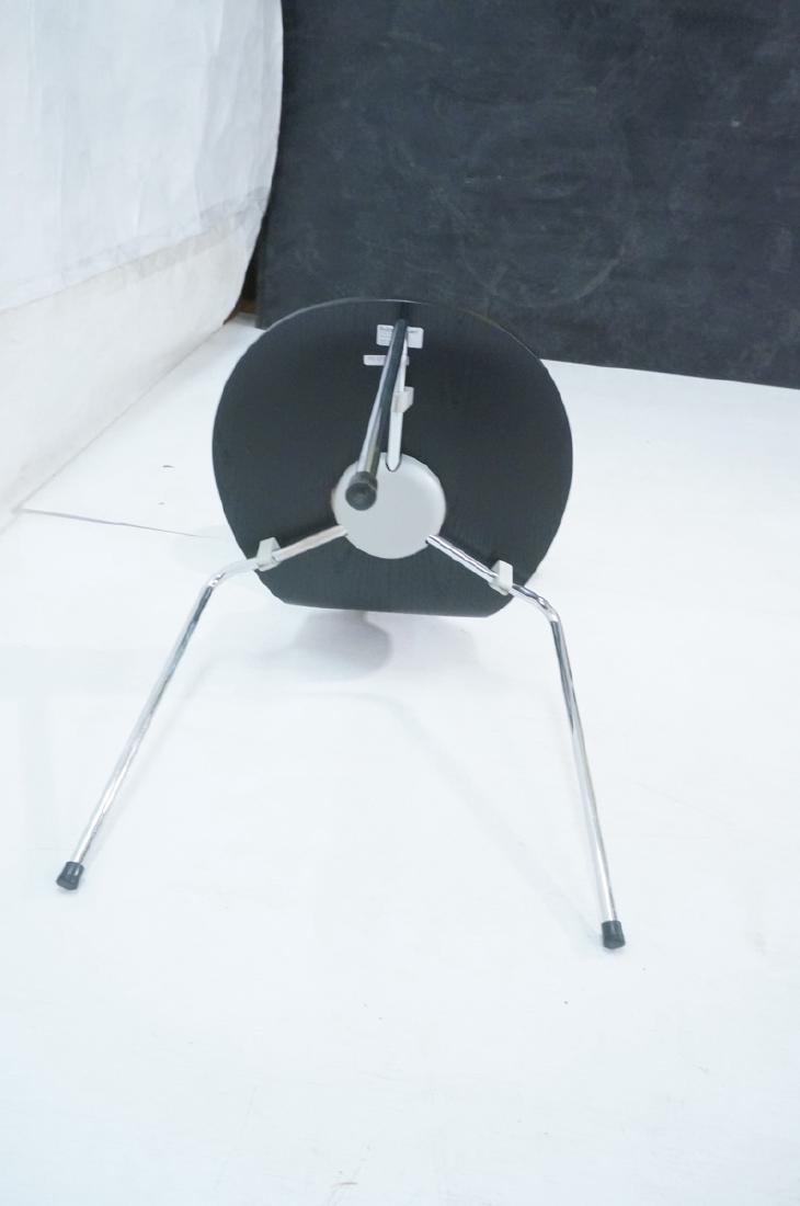 FRITZ HANSEN Black & Chrome Ant Chair ARNE JACOBS - 8