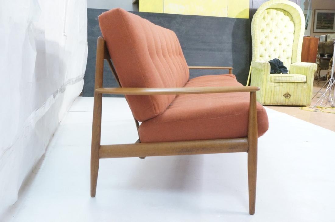 Danish Modern Teak Sofa Couch. Wide bowed paddle - 3